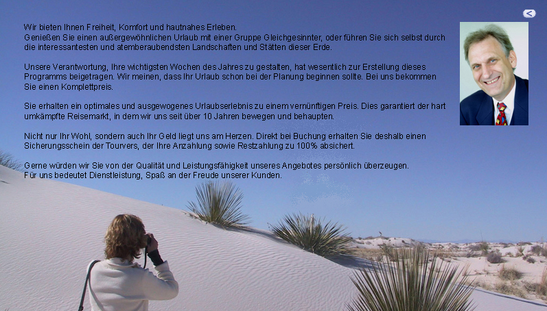 Die White Sands bei Alamogordo, New Mexico